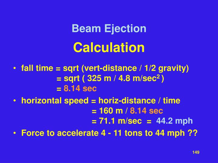 Beam Ejection