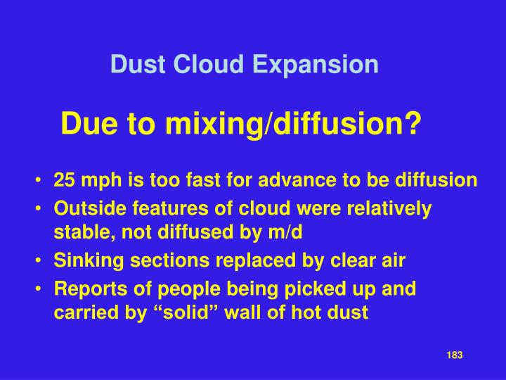 Dust Cloud Expansion