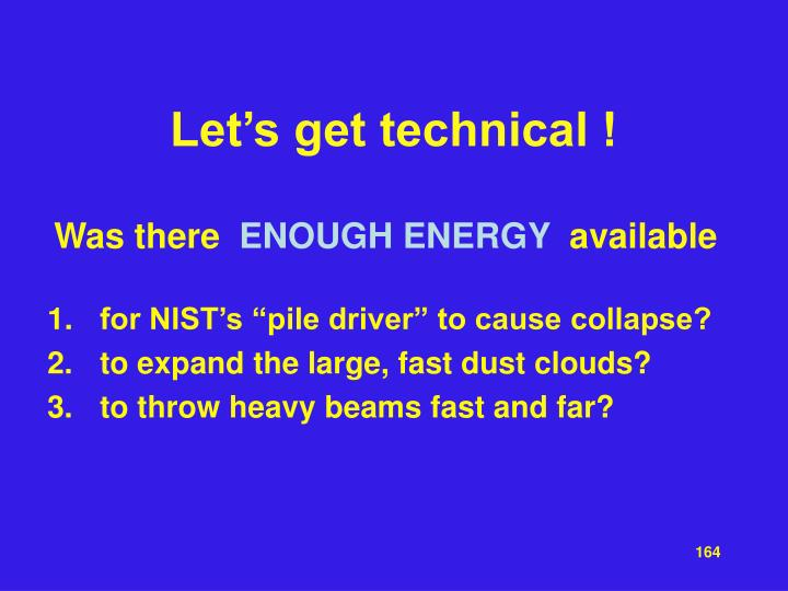 Let's get technical !