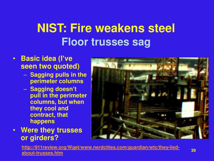 NIST: Fire weakens steel