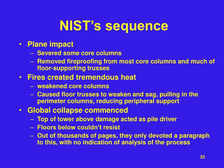 NIST's sequence