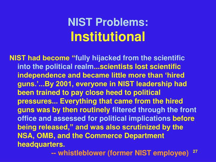 NIST Problems: