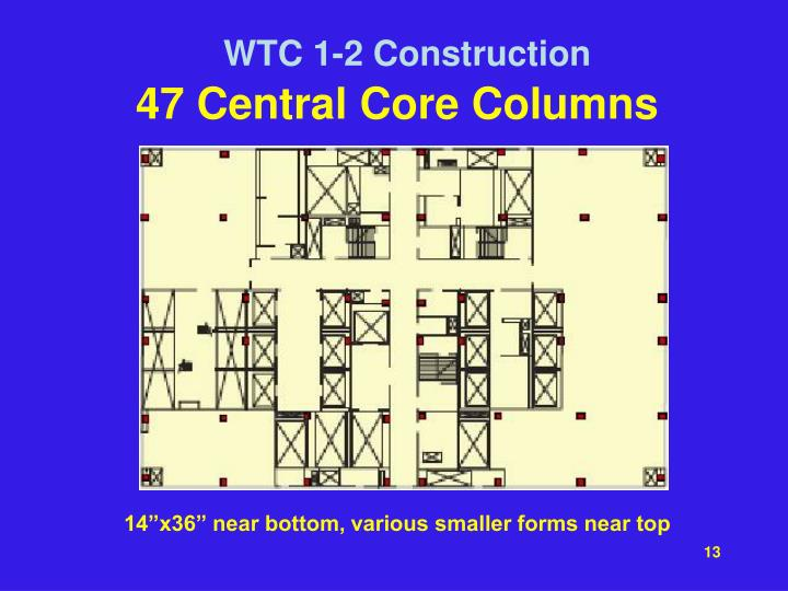47 Central Core Columns