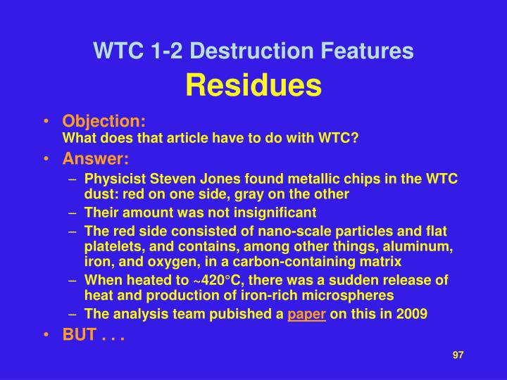 WTC 1-2 Destruction Features