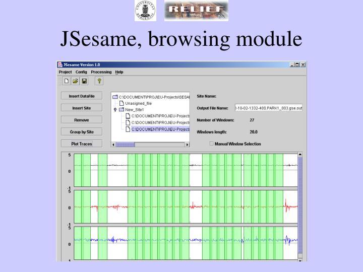 JSesame, browsing module
