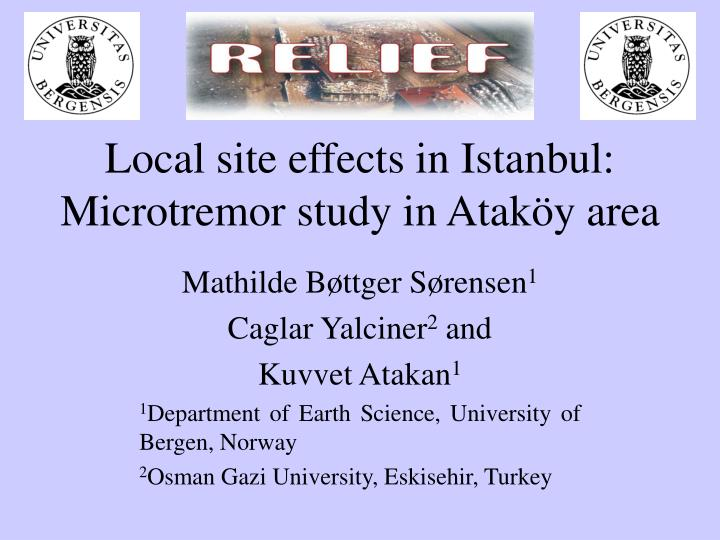 Local site effects in Istanbul: Microtremor study in Ataköy area