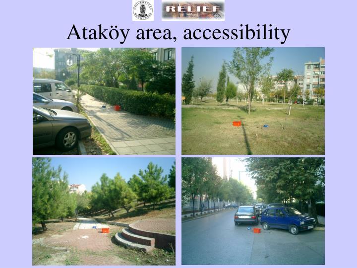 Ataköy area, accessibility