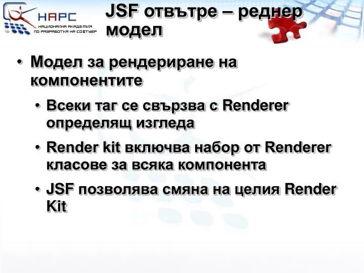 JSF отвътре – реднер модел
