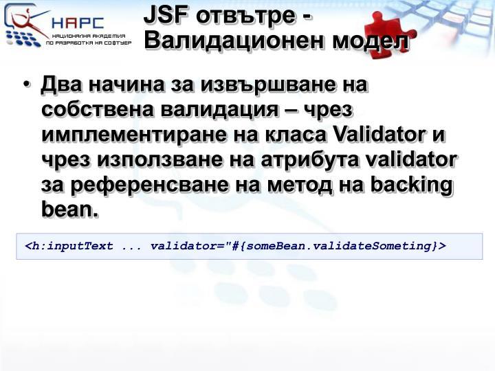 JSF отвътре -
