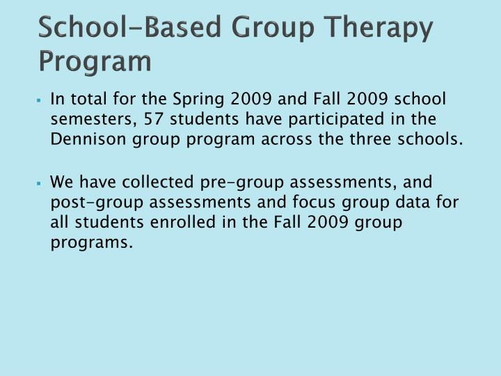 School-Based Group Therapy Program