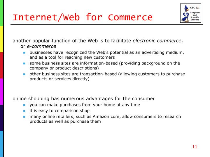Internet/Web for Commerce