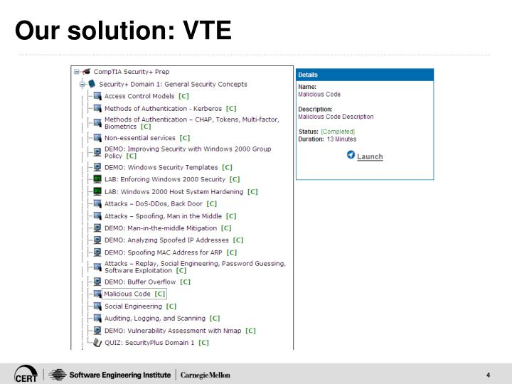Our solution: VTE