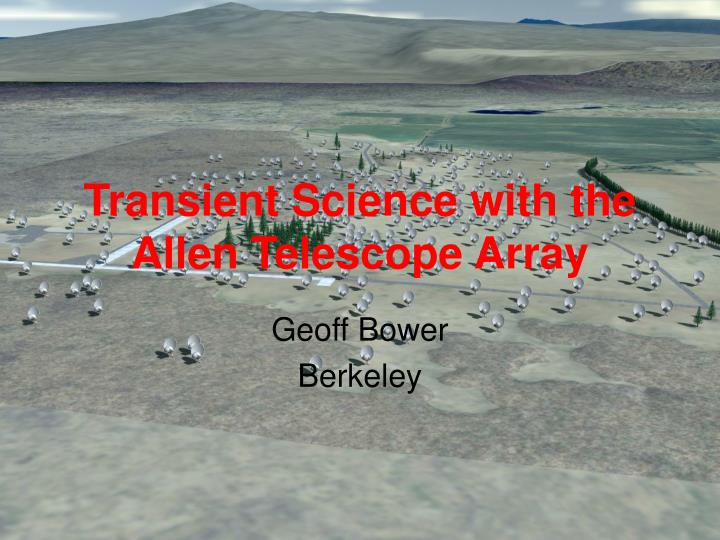 Transient science with the allen telescope array