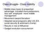 class struggle class mobility