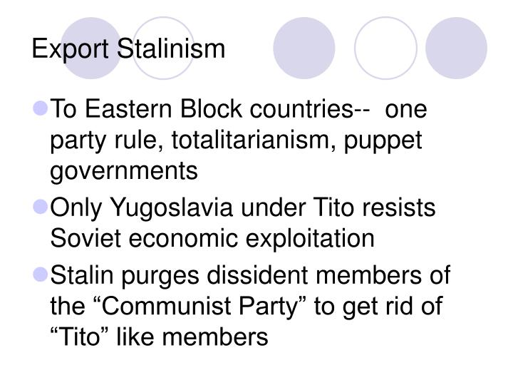 Export Stalinism