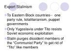 export stalinism