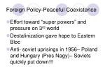 foreign policy peaceful coexistence