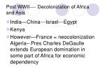 post wwii decolonization of africa and asia