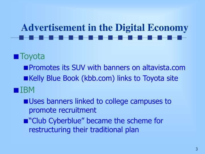 Advertisement in the digital economy1