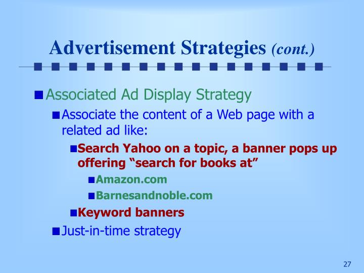 Advertisement Strategies