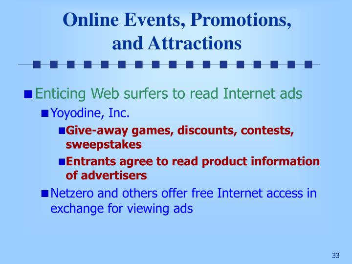 Online Events, Promotions,