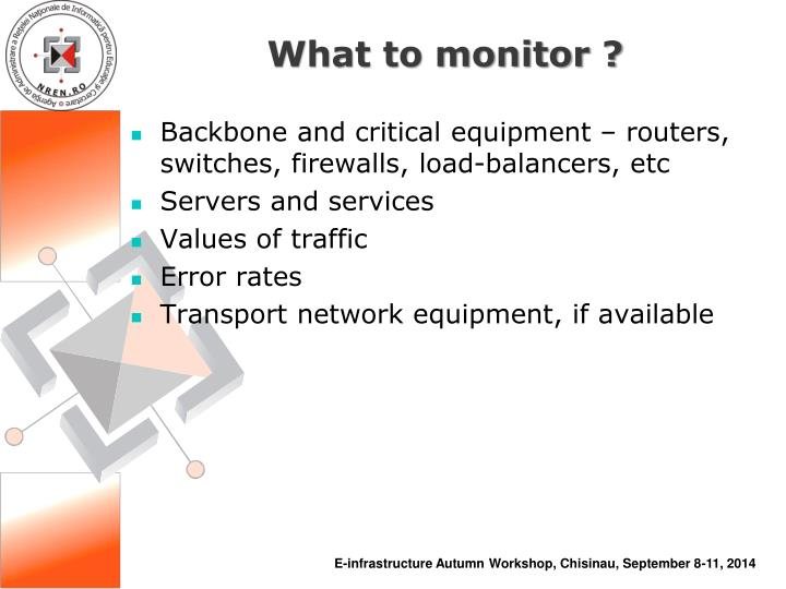 What to monitor ?