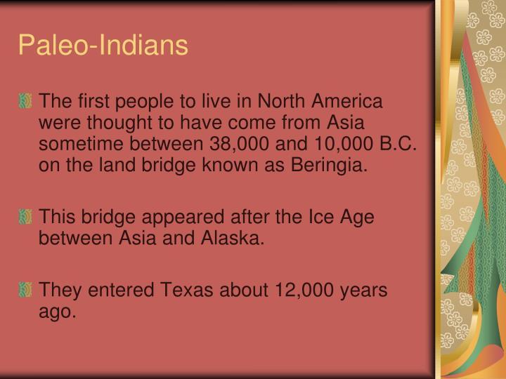 Paleo-Indians