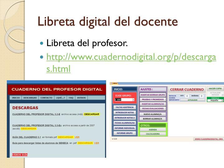 Libreta digital del docente