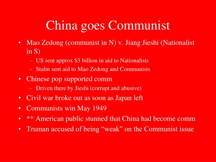 China goes Communist