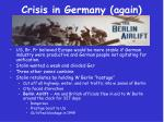 crisis in germany again