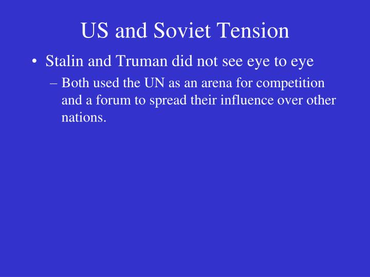 US and Soviet Tension