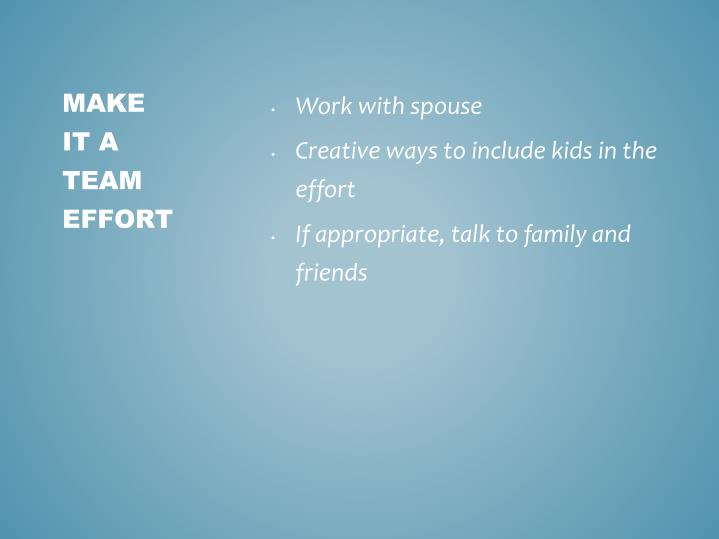 Work with spouse