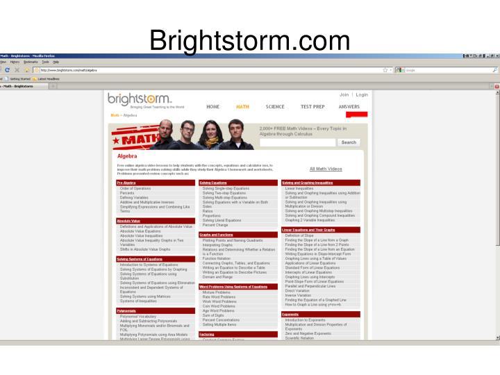 Brightstorm.com