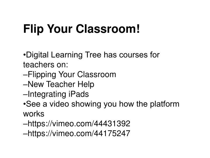 Flip Your Classroom!