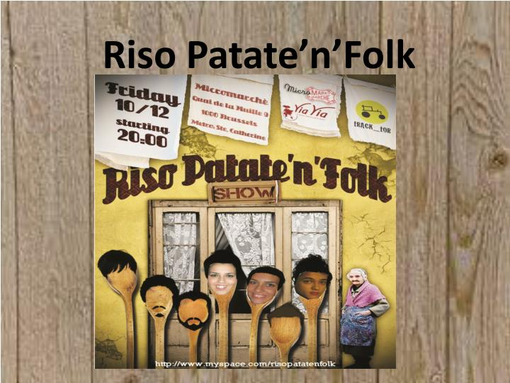 Riso patate n folk
