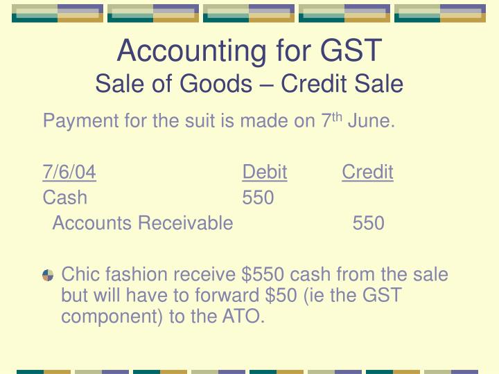 Accounting for GST