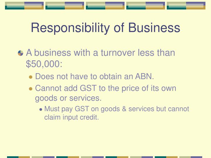 Responsibility of Business