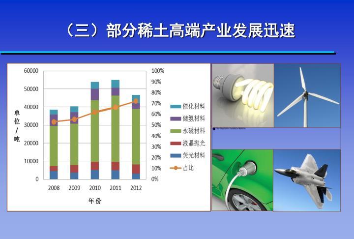 (三)部分稀土高端产业发展迅速