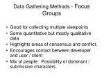 data gathering methods focus groups