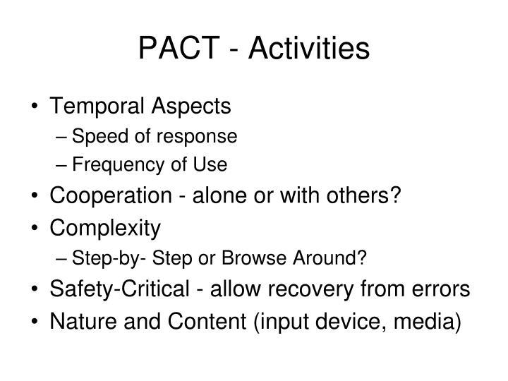 PACT - Activities