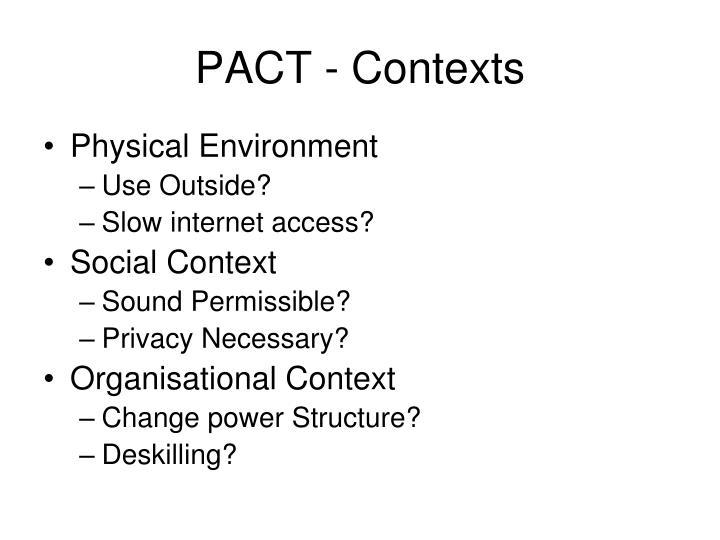 PACT - Contexts
