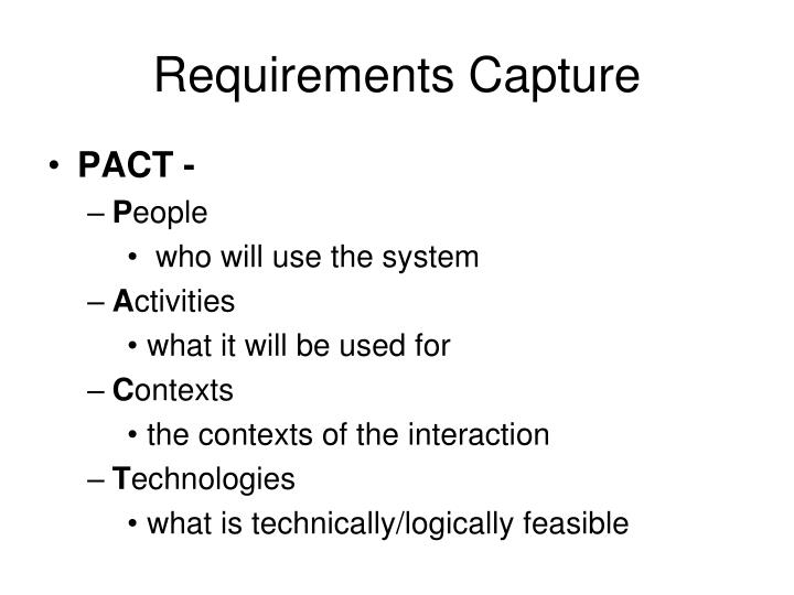 Requirements Capture