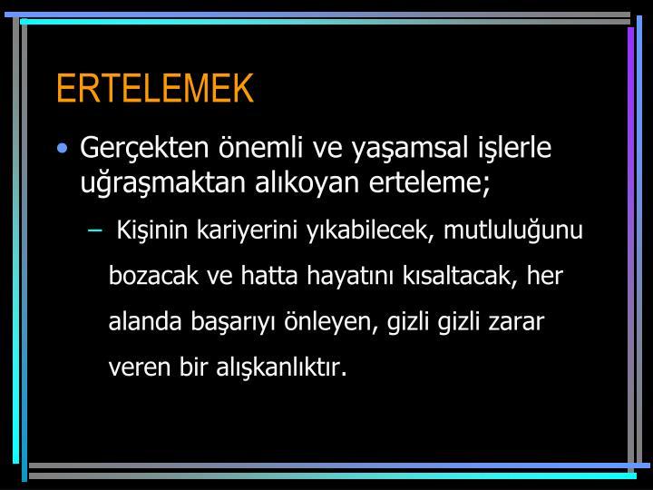 ERTELEMEK