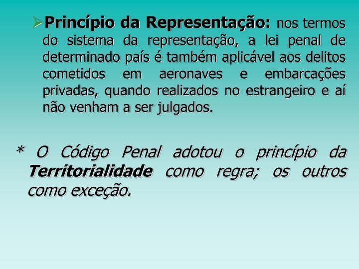 Princípio da Representação:
