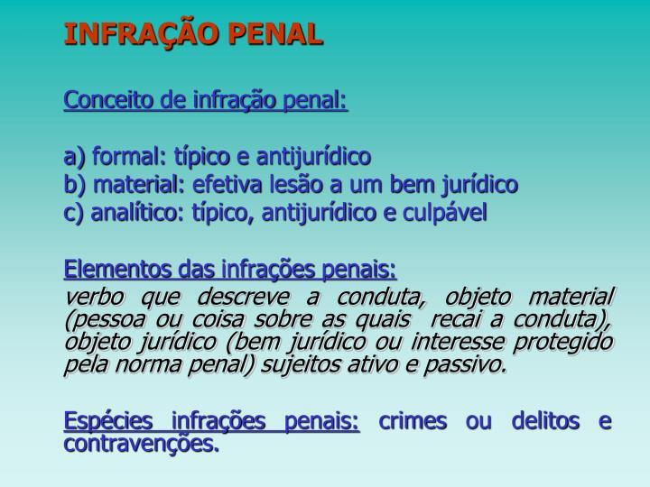 INFRAÇÃO PENAL