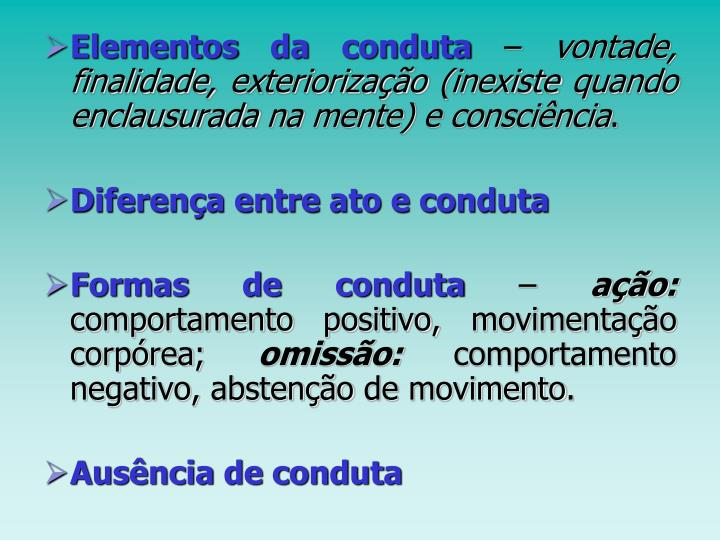 Elementos da conduta