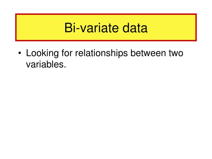 Bi-variate data