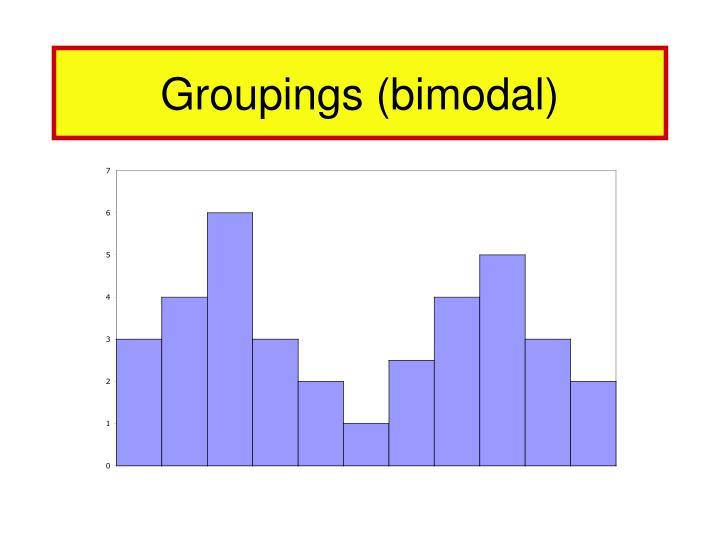 Groupings (bimodal)