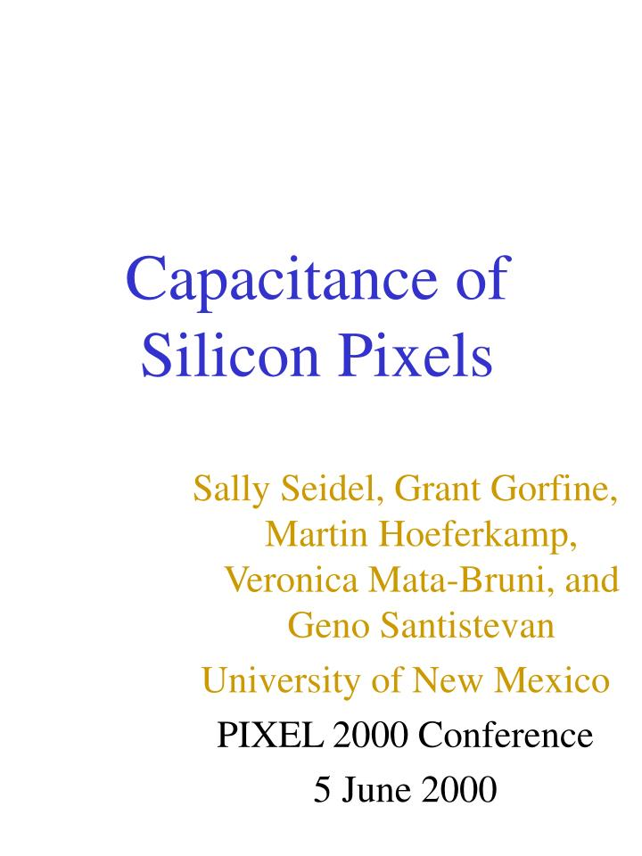 Capacitance of silicon pixels