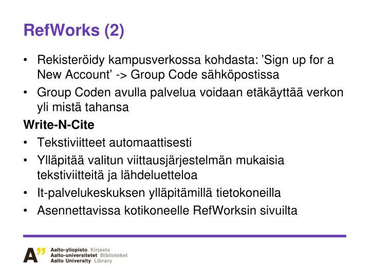 RefWorks (2)